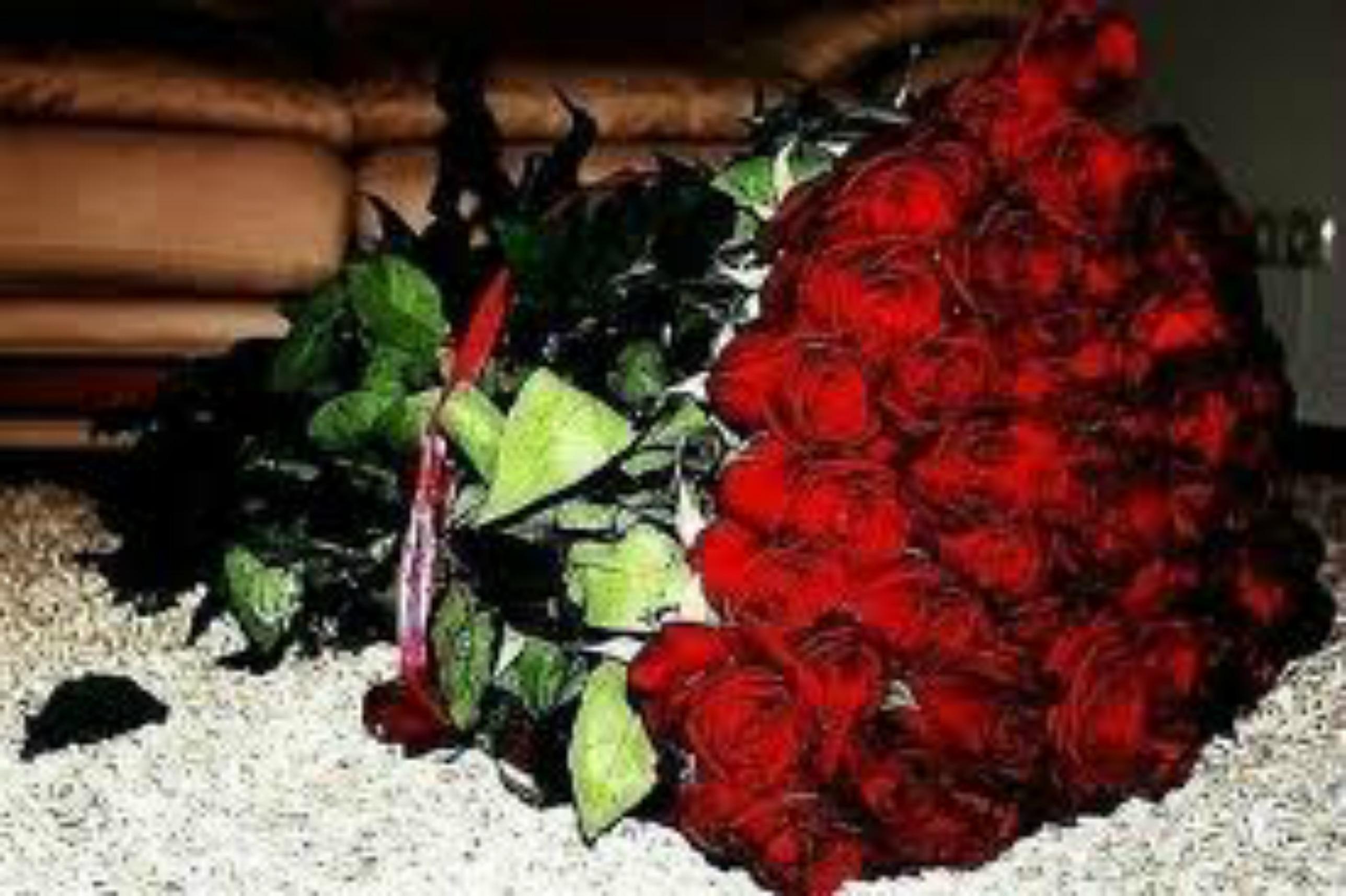 Букет цветов розы из бумаги 5