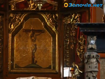 Чудотворна ікона Спаса у м. Глиняни (відео)