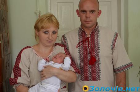 Вітаємо Уляну та Володимира Романишин із Хрещенням синочка