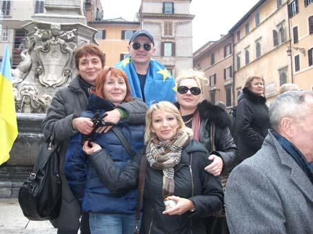 Євромайдан підтримали золочів'яни в Римі (відео)