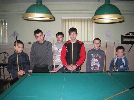 Відбувся юнацький турнір по більярду