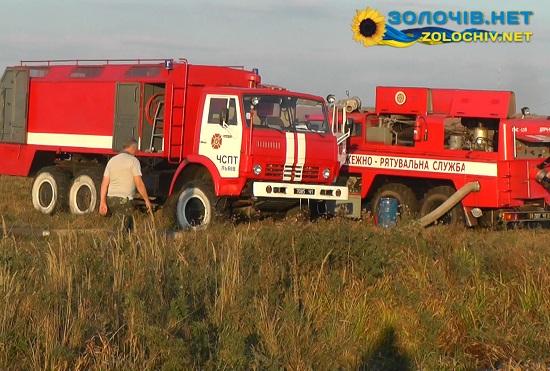 На місце гасіння торф'яної пожежі привезено потужну пожежно-насосну станцію (відео)