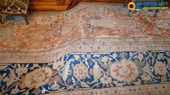 Східні килими в експозиції Великого житлового палацу Золочівського замку (відео)