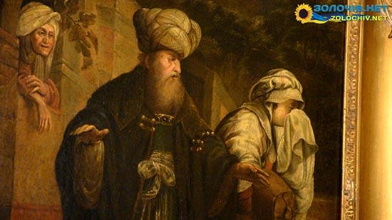 Картина «Вигнання Агар» Рембрандта у в експозиції Великого палацу Золочівського замку (відео)