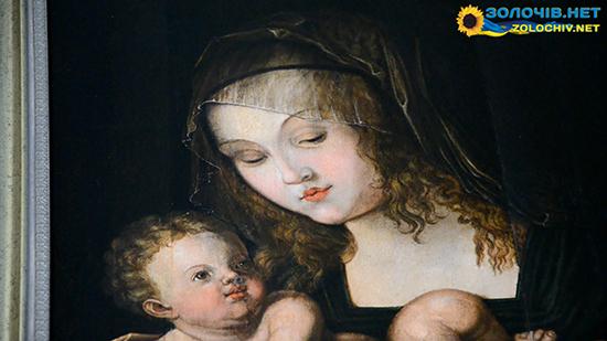 Мадонна в експозиції Великого палацу Золочівського замку