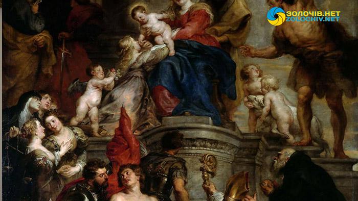 «Мадонна зі святими» в експозиції Золочівського замку