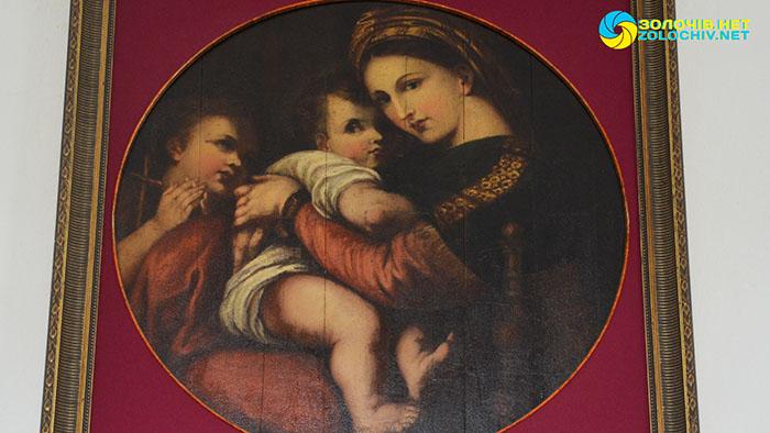 «Мадонна делла Седія» в експозиції Золочівського замку