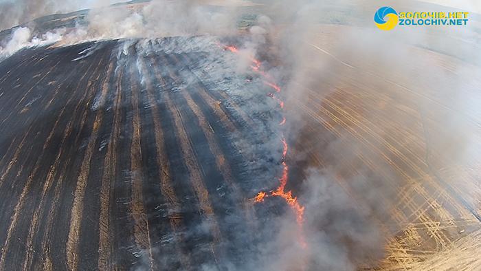 У Золочівському районі знову горять торфи і сухостої