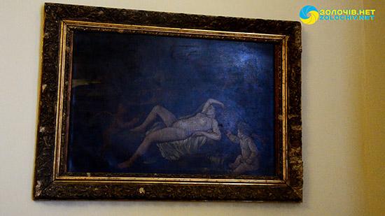 «Спляча Венера» в експозиції великого палацу Золочівського замку