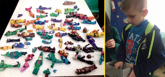 В 6 років хлопчик створив колекцію фігурок із пластиліну