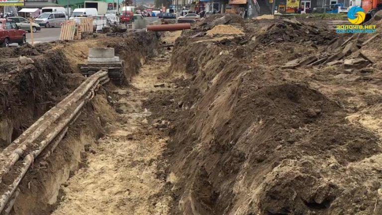Продовжується ремонт площі Вічевої у Золочеві