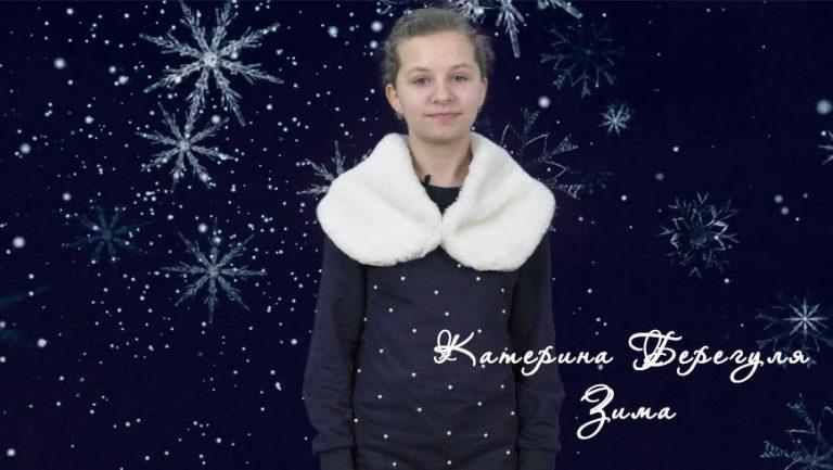 Творчі рядки   Катерина Берегуля: Зима