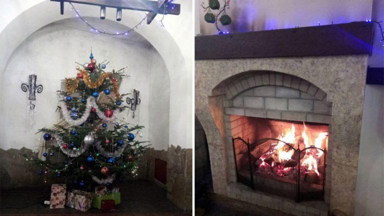 """Ресторан """"Равелін"""" запрошує на зустріч Нового року біля каміну із живою музикою"""