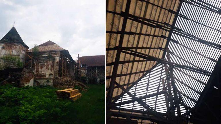 На Поморянському замку відновили роботи