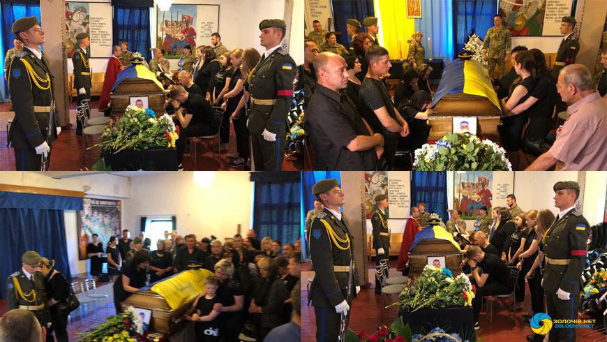Похорон військових льотчиків у Бродах