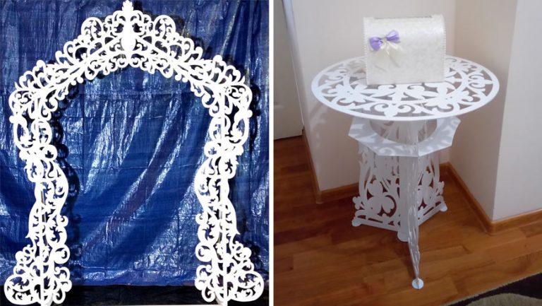 Оренда весільної арки, посадкової дошки та  столика