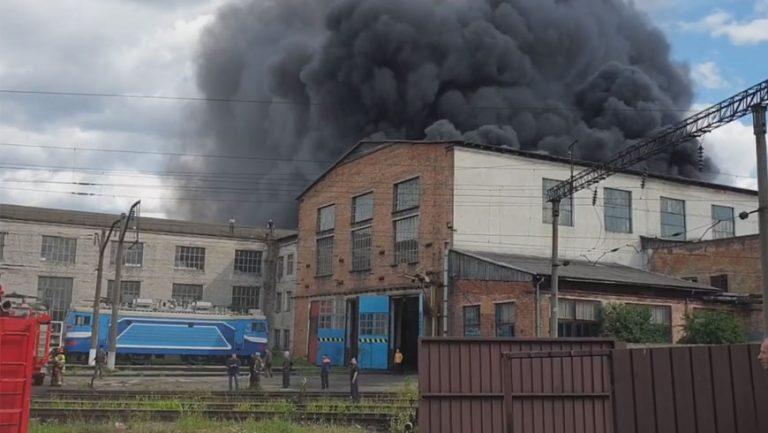 У Львові на Головному залізничному вокзалі виникла пожежа (відео)