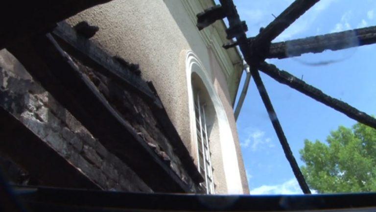 На Перемишлянщині виникла пожежа в церкві (відео)