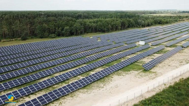 У Золочівському районі працює потужна сонячна електростанція (відео)