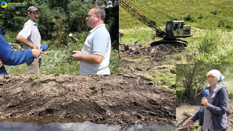 Мешканці Поморянщини не задоволені тим, як проводять роботи по розчищенню річки (відео)