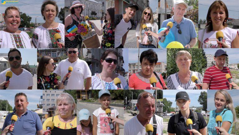 Золочів'яни вітають із Днем незалежності України (відео)
