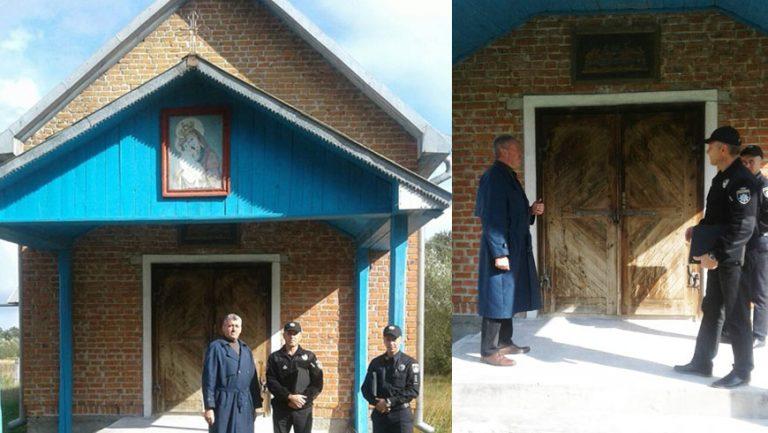 На Бродівщині поліцейські встановили особу жінки, яка розмалювала церкву