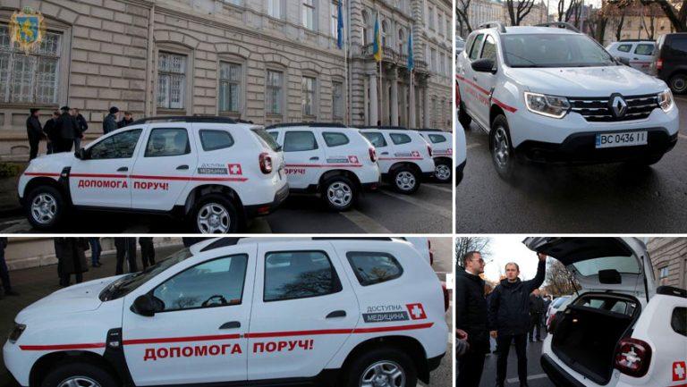 Сільським лікарським амбулаторіям Львівщини передали 28 позашляховиків