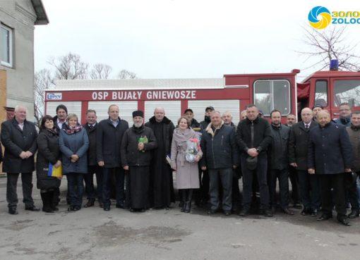 З Польщі передали Місцевій пожежній команді у с. Сасів пожежний автомобіль