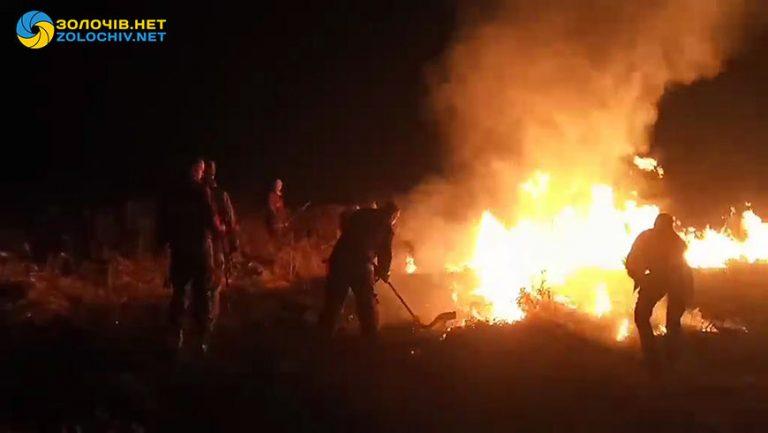 На Золочівщині горіли поля (відео)