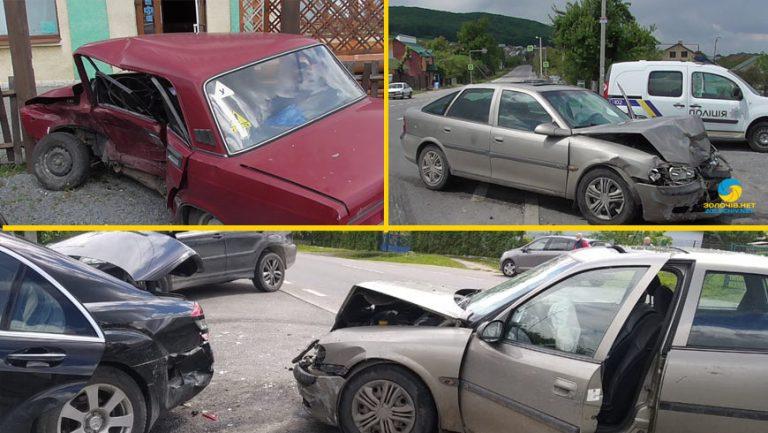 У Золочівському районі сталася ДТП за участі 3 авто (відео)