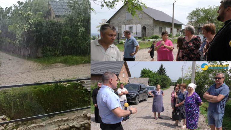 Наслідки негоди у селі Ясенівці: вода, дороги та рови (відео)