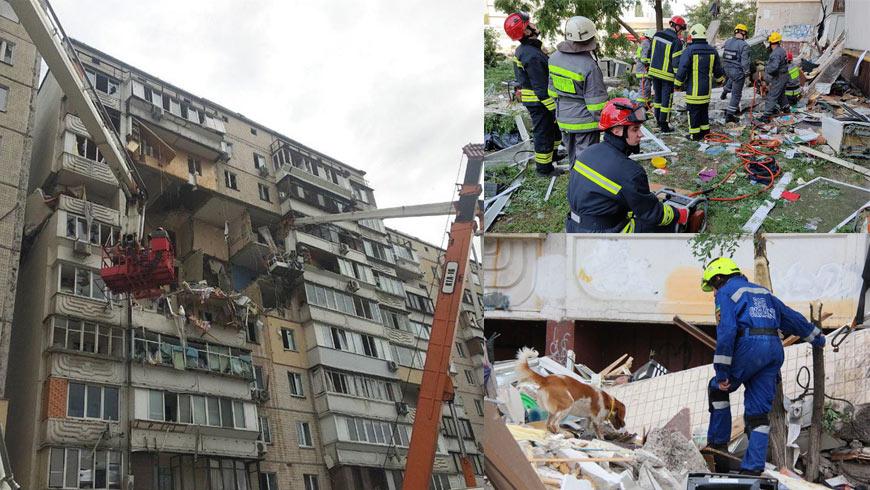У Києві в багатоповерхівці стався вибух