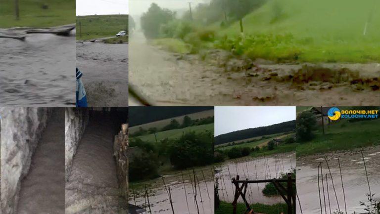 Наслідки грози на Золочівщині (відео)