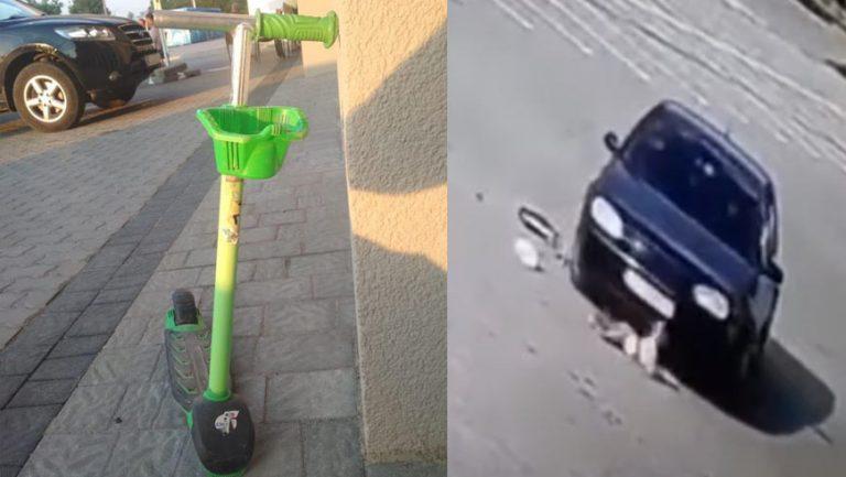 У Дрогобичі водій двічі переїхав дитину, рухаючись заднім ходом (відео)
