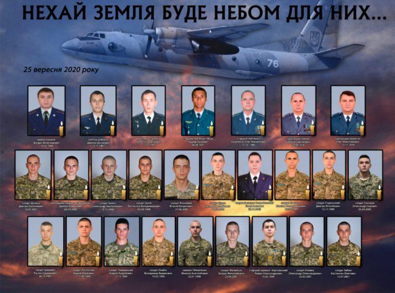 Опубліковано список усіх загиблих у авіатрощі на Харківщині