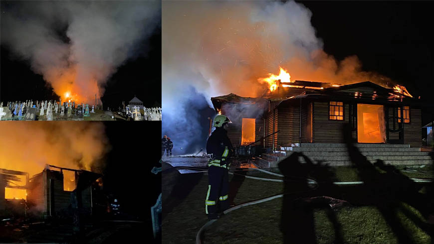 На Львівщині вогонь знищив дерев'яну церкву