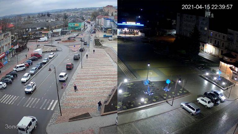 Наживо: онлайн камера у м. Золочів на площу Вічеву (відео)