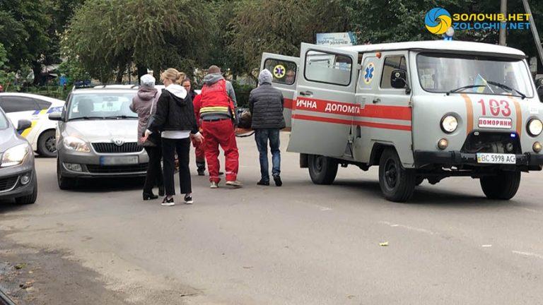 ДТП: у Золочеві авто збило жінку (відео)