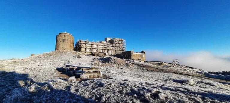 В Карпатах на горі Піп Іван мороз
