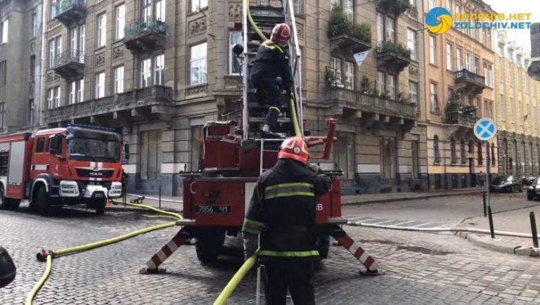 Наживо: пожежа у Львові (відео)