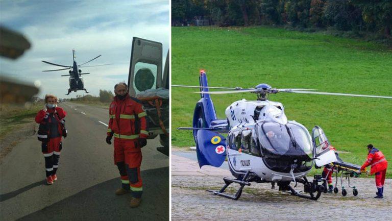 Гелікоптер доставив із Золочівського району пацієнта в профільну лікарню міста Львова