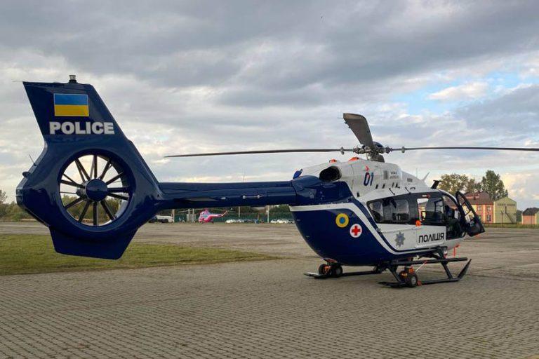 Вагітну жінку доставлено до Львова поліцейським гелікоптером
