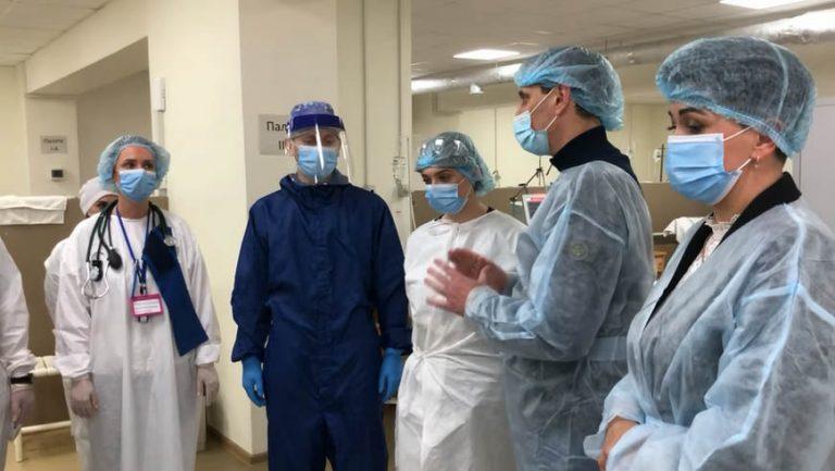 Ковідну лікарню у Львові відвідав міністр охорони здоров'я (відео)